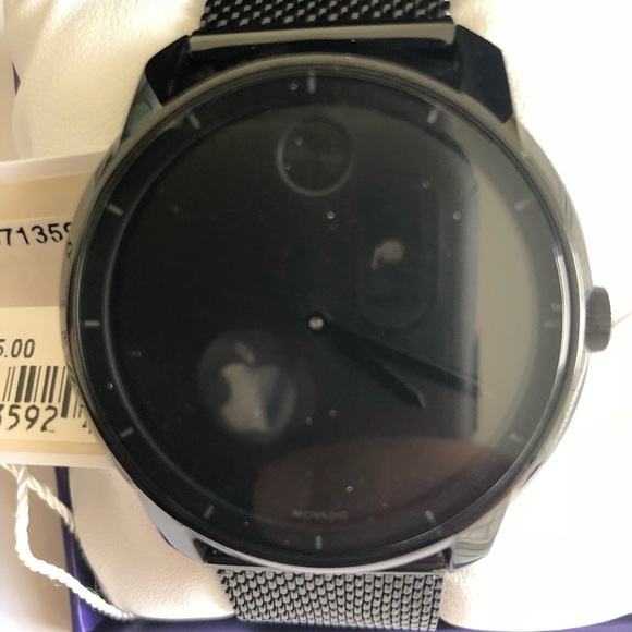 Movado Bold Black Ion-Plated stainless mesh watch 7a4ef9e450e7